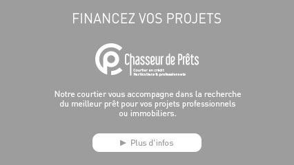 FINANCEZ VOS PROJETS Notre courtier vous accompagne dans la recherche du meilleur prêt pour vos projets professionnels ou immobiliers.